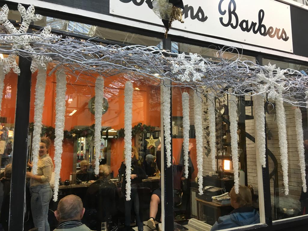 Barber's Christmas Window