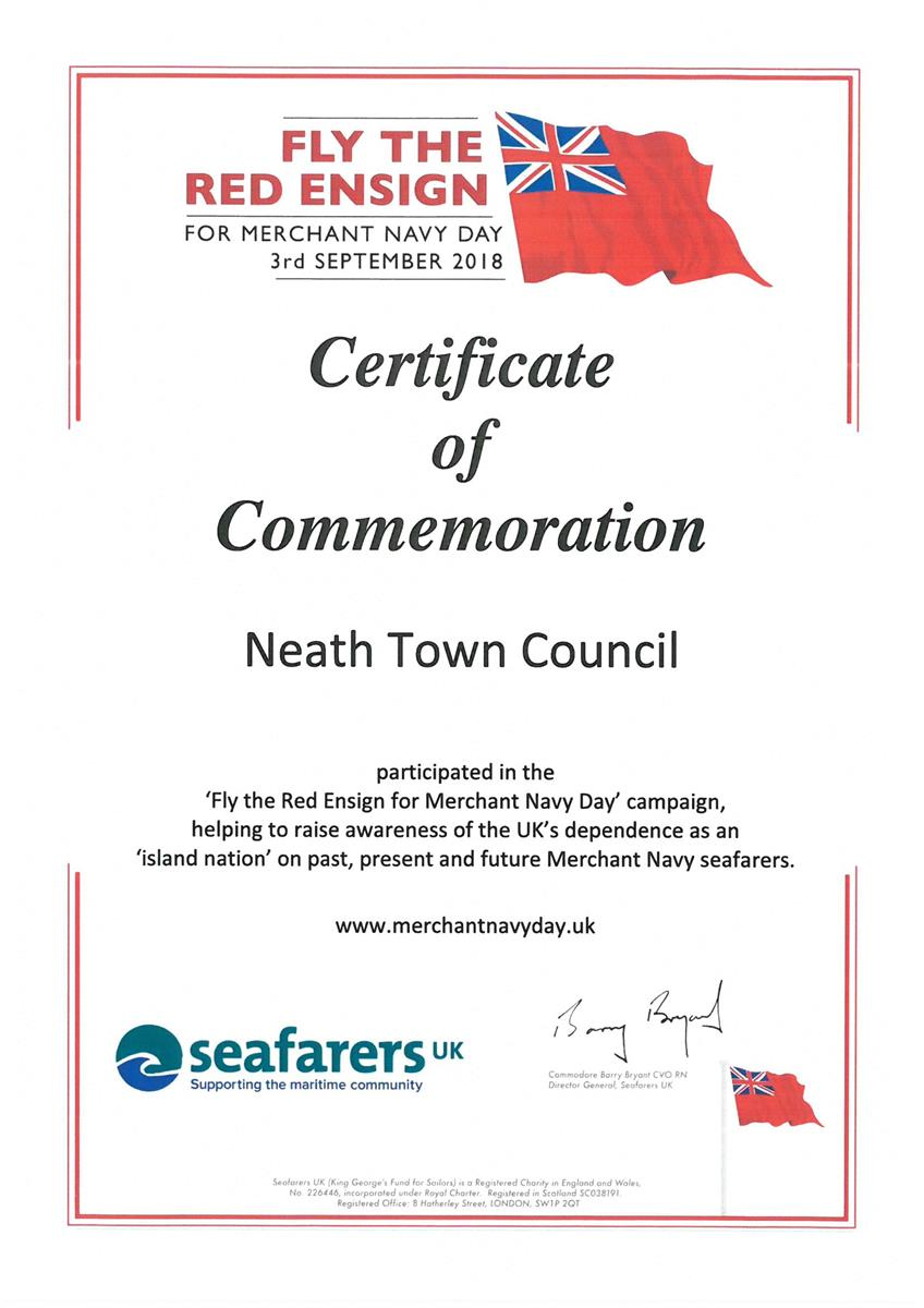 Certificate of Commemoration