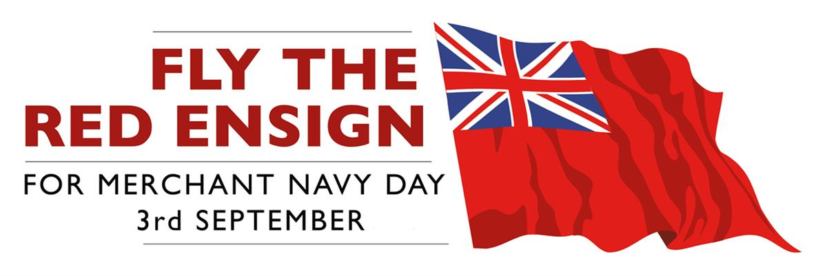 Fly the Red Ensign for Merchant Navy Day logo