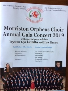 Morriston Orpheus Choir Annual Gala Concert poster