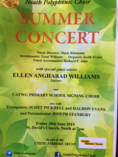 Neath Polyphonic Choir Summer Concert Poster