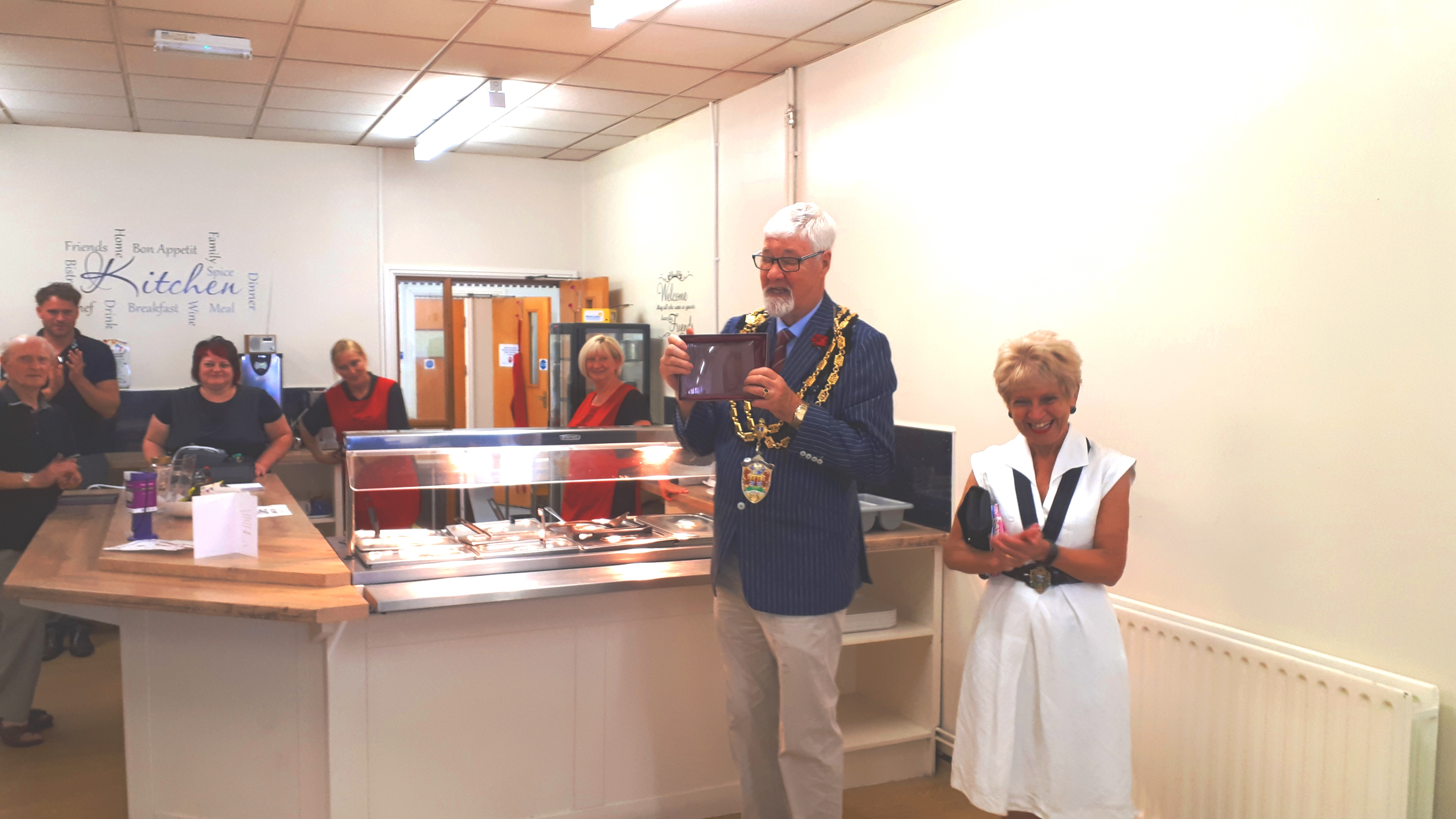 Mayor & Mayoress in Cafe