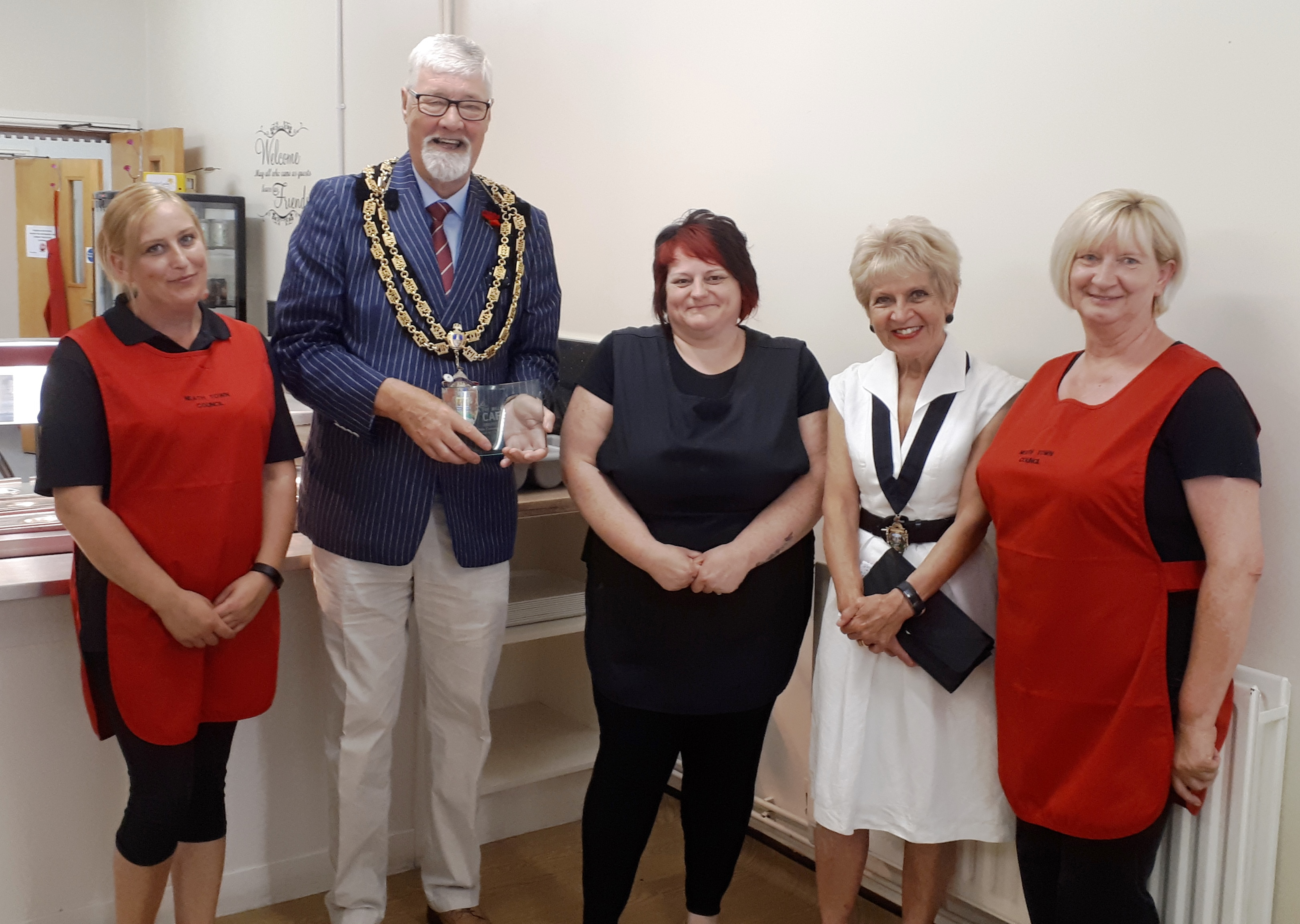 Mayor, Mayoress and Cafe Staff