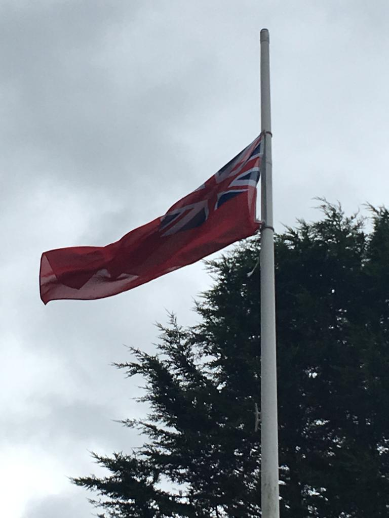 Red Ensign flying