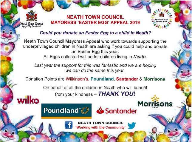 Mayoress Easter Egg Appeal Poster