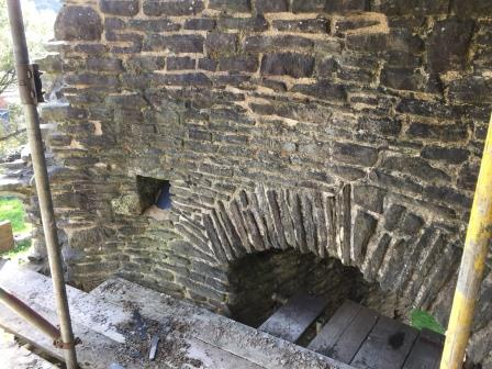 Neath Castle restoration works
