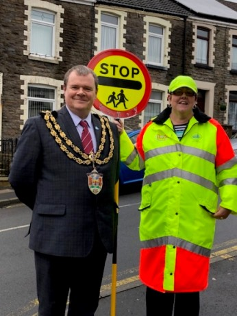 Mayor with School Crossing Patrol Officer