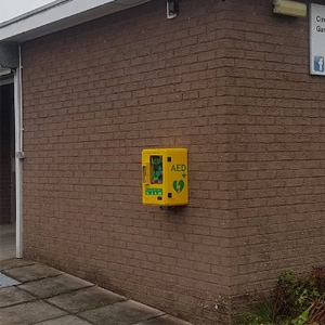 Defibrillator location Cimla