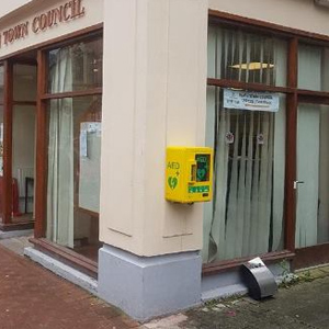 Defibrillator location Neath Community Centre