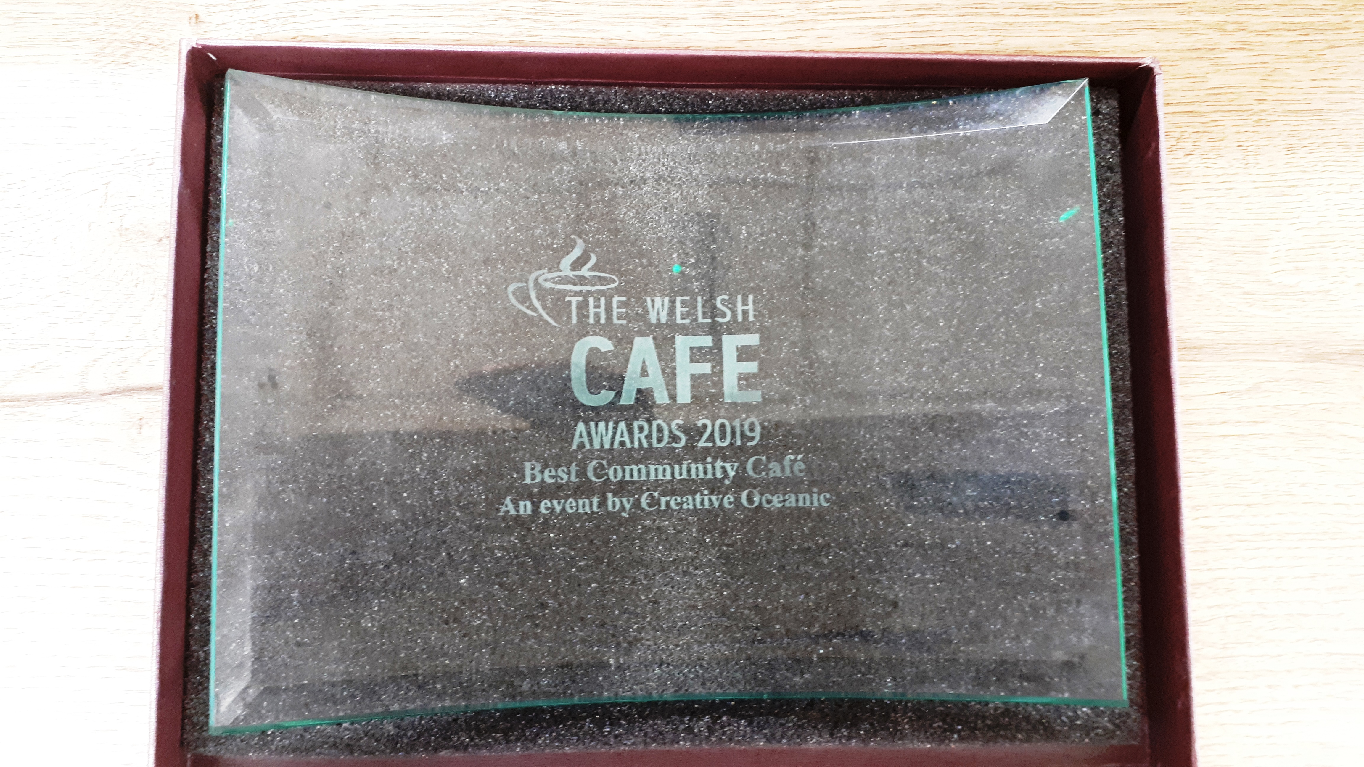 Welsh Cafe Award trophy